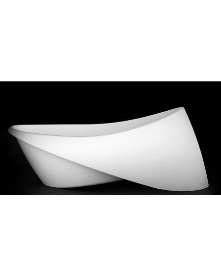 Vana z litého mramoru volně stojící Goccia 197x97x73cm bílý mramor Durocoat ® White lesk