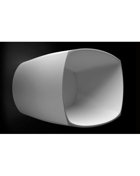 Vana z litého mramoru volně stojící Isar M. 175x78x64cm bílá material Durocoat® White mat