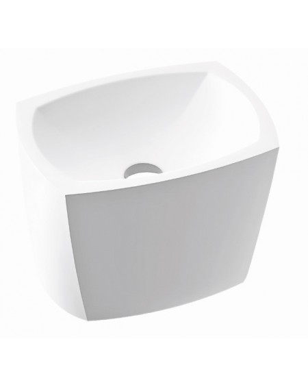 Umyvadlo na desku z litého mramoru Isar 46x33x30cm P 597 - W.B. materiál Durocoat® litý mramor povrch lesk White