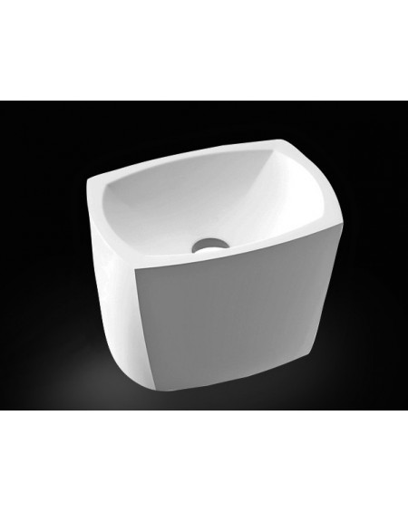 Umyvadlo na desku z litého mramoru Isar 46x33x30cm P 597 - W.M. materiál Durocoat® litý mramor povrch mat White