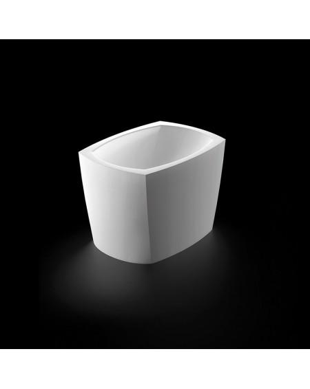 Umyvadlo na desku z litého mramoru Isar 46x33x30cm P 597 - BL.B. Black & White materiál Durocoat® litý mramor povrch lesk