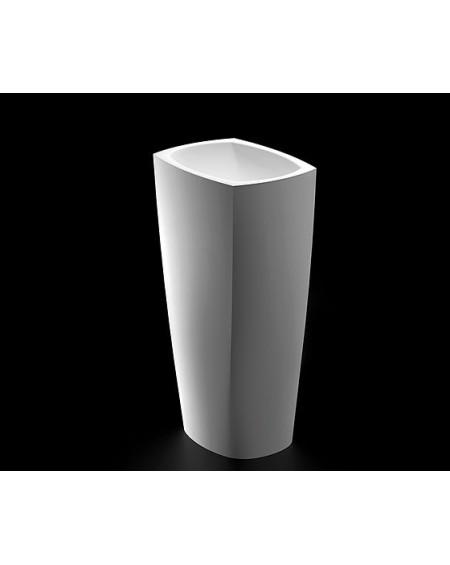 Umyvadlo volně stojící z litého mramoru 85cm W.B 46x33x14cm materiál Durocoat® litý mramor povrch lesk White