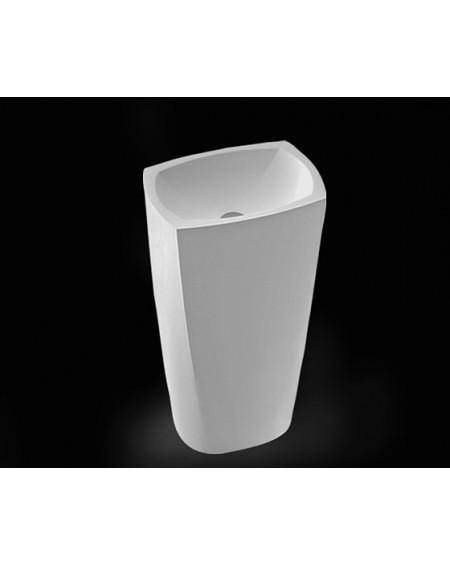 Umyvadlo volně stojící z litého mramoru 85cm W.M 46x33x14cm materiál Durocoat® litý mramor povrch mat. White