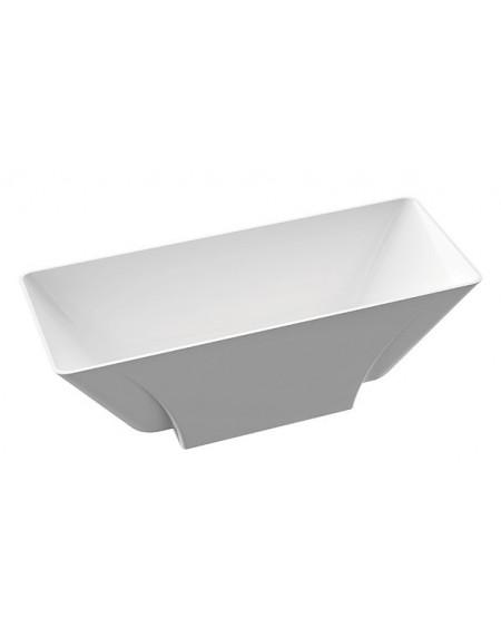 Vana volně stojící Loren B. 163x63x57cm materiál Durocoat® litého mramoru povrch lesk bílá