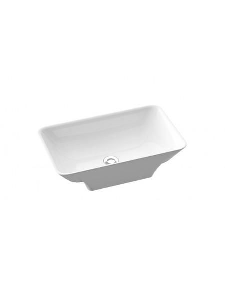 Umyvadlo na desku zápustné Loren B. 60x36x15cm materiál Durocoat® litý mramor povrch lesk bílé