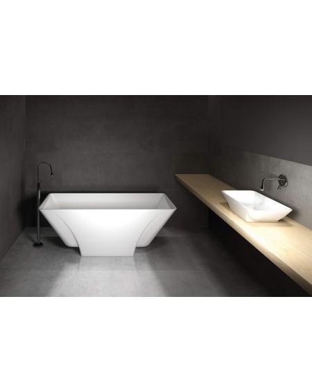 Koupelnový set z litého mramoru Loren 163 bílý lesk konglomerát mramoru super white