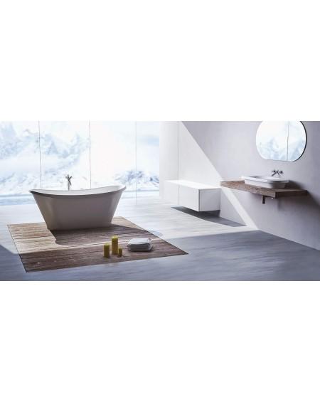 Koupelnový set z litého mramoru Pia 161 Durocoat ® super white mate / brilo