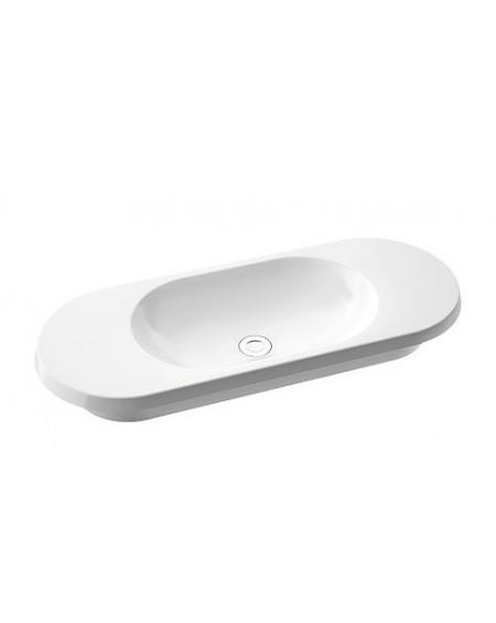Umyvadlo zápustné na desku z litého mramoru Pia 900 B. 92x36x13 Durocoat ® super white lesk bílé
