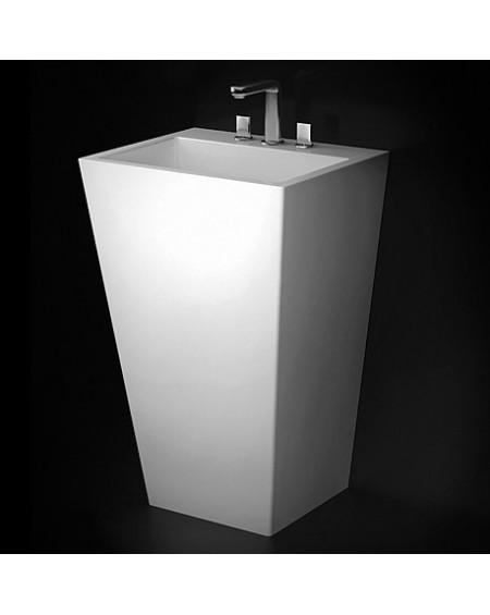 Umyvadlo volně stojící sloupové 845cm Tebe 550 W.B. 55x45x12cm z litého mramoru Durocoat ® bílá lesk