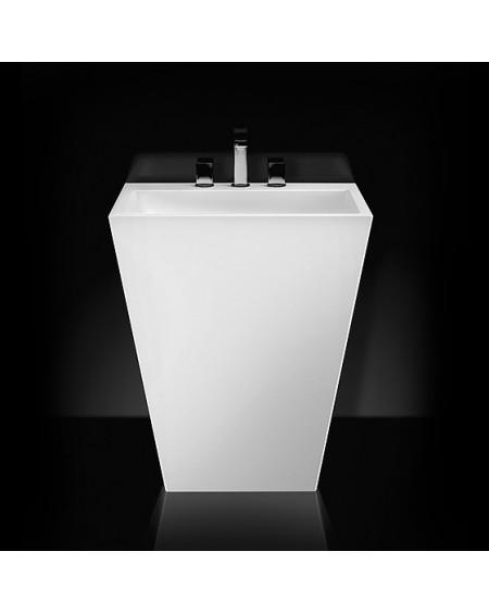 Umyvadlo volně stojící sloupové 845cm Tebe 700 W.B. 70x50x12cm z litého mramoru Durocoat ® bílá lesk
