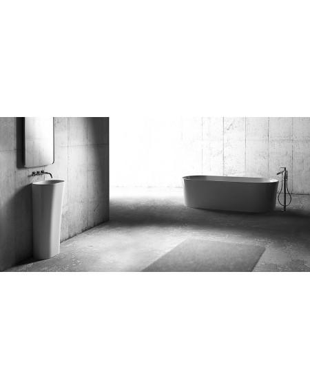 Koupelnový set Tytan Durocoat ® vany z litého mramoru super white mate / brilo konglomerát mramoru Durocoat®