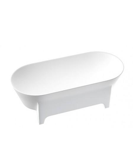 Vana volně stojící Liva W.M. 171x76x60cm z litého mramoru Durocoat ® bílá mat