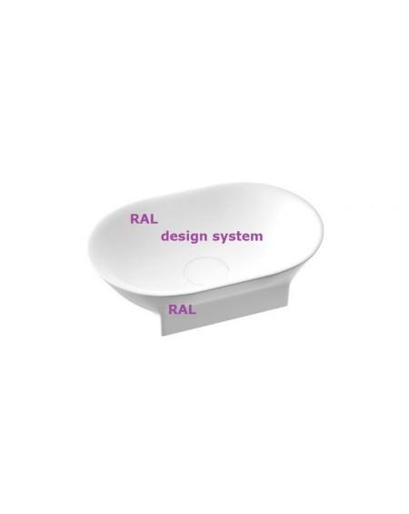 Umyvadlo na desku z litého mramoru Liva RAL .B. 60x35x14cm colore materiál Durocoat® povrch barvy RAL Design System