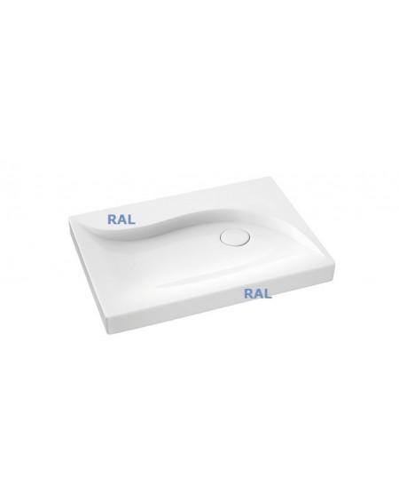 Umyvadlo na desku z litého mramoru Vala 700 countertop RAL.B. 70,5x50,5x8cm Durocoat® materiál lesklý dle RAL