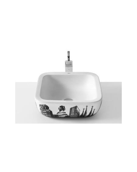 Umyvadlo na desku porcelán Urban Barcelona 40x40x15cm glase výrobce Roca Es.