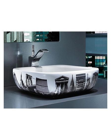 Umyvadlo na desku porcelán Urban New York 40x40x15cm glase výrobce Roca Es.