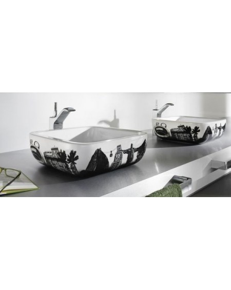 Umyvadlo na desku porcelán Urban Rio 40x40x15cm glase výrobce Roca Es.
