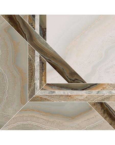 Dlažba imitující drahé kameny B Chalcedon Achát Beyond Centro Pul 4 beige pulido 45x45 cm Rtt výrobce Aparici kalibrováno lesk 1