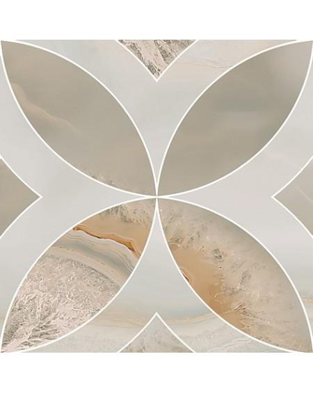 Dlažba imitující drahé kameny B Chalcedon Achát Beyond Rossone beige pulido 45x45 cm Rtt výrobce Aparici kalibrováno lesk