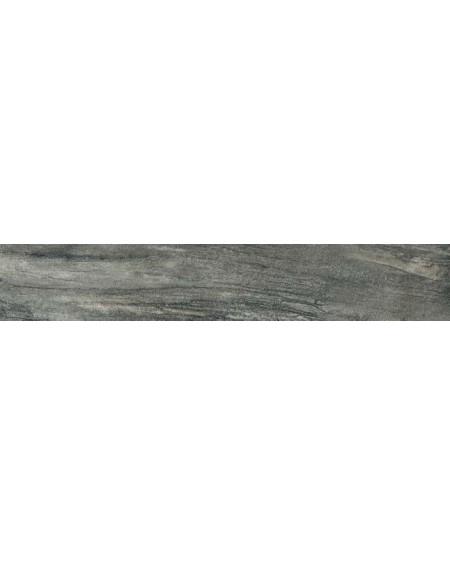 Dlažba imitující mramor Icon Charcoal 20x120 cm Rtt. Lappato výrobce La Fabbrica kalibrováno lesk tmavě šedý