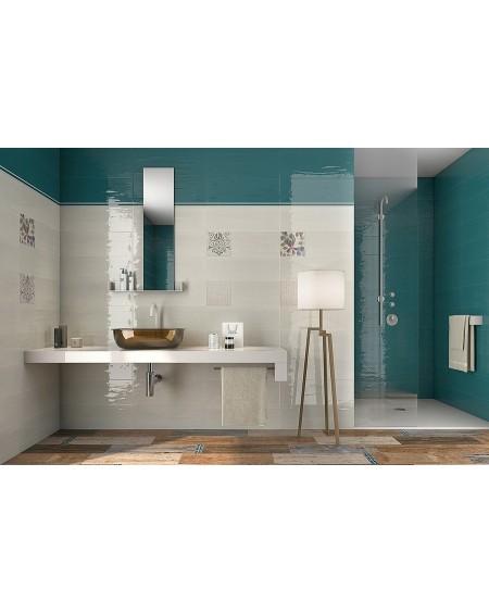 Koupelnový obklad Casa Mayólica Ancona basalto 20x60 cm výrobce Pamesa se vzorem barva smaragdu - aquamarine / lesk