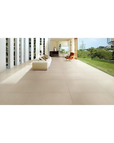 Dlažba obklad imitující beton se vzorem Vision Touch Ecru Vision 120x120 cm Rtt. Naturale výrobce La Fabbrica kalibrováno matná