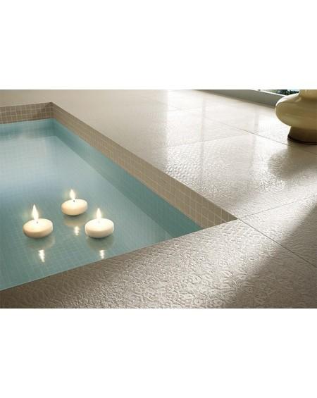 Dlažba obklad imitující beton se vzorem Vision Touch Ecru Vision 60x60 cm Rtt. Lappato výrobce La Fabbrica kalibrováno lesk