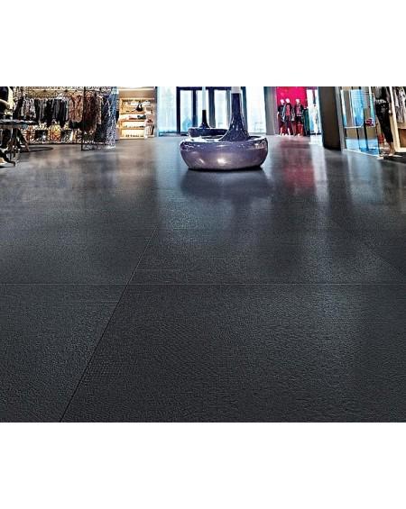 Dlažba obklad imitující beton se vzorem Vision Touch Noir Vision 120x120 cm Rtt. Lappato výrobce La Fabbrica kalibrováno lesk
