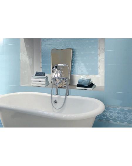 Koupelnový obklad lesklý modrý Satin Azur 25x41 cm výrobce Brennero dekore Chic Lustro koupelny 1/ks