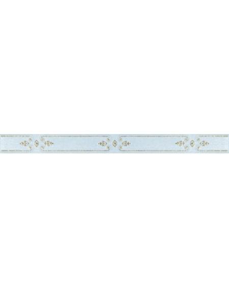 Koupelnový obklad lesklý modrý Satin Azur 3,5x41 cm výrobce Brennero listelo