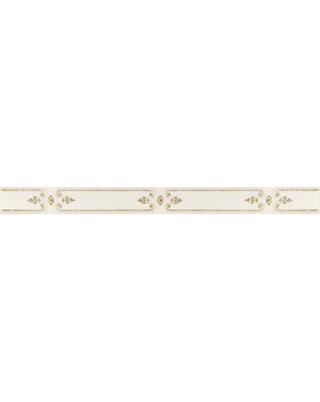 Koupelnový obklad lesklý perlový Satin Pearl 3,5x41 cm výrobce Brennero listelo