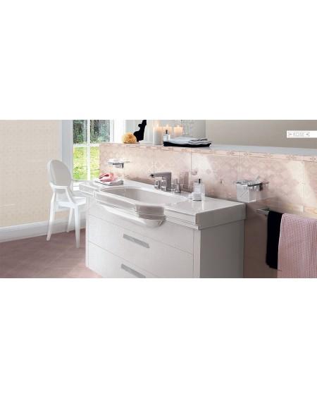 Koupelnový obklad lesklý růžový lososový Satin Rose 25x41 cm výrobce Brennero dekore Chic Lustro koupelny 1/ks