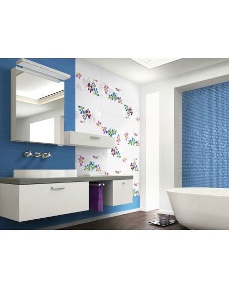 Koupelnový obklad lesklý Presuntuosa Blu 25x60 cm výrobce Brennero dekore Fashion set 2/ks