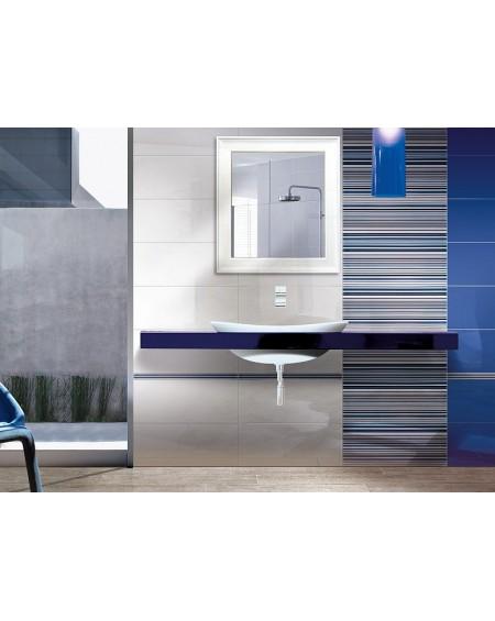 Koupelnový obklad modrý lesklý Presuntuosa Blu 25x60 cm výrobce Brennero dekore Righe 1/ks