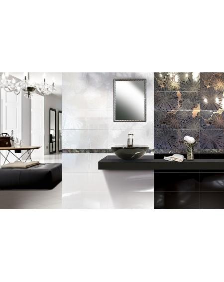 Koupelnový obklad Black & White Presuntuosa Black 25x60 cm Nero výrobce Brennero dekore Appeal set 2/ks černobílá koupelna