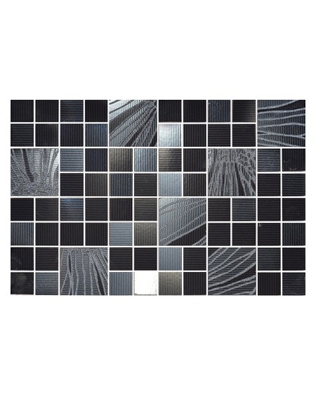 Koupelnový obklad Black & White Presuntuosa Black 25x30 cm Nero výrobce Brennero Appeal mosaico 1/ks