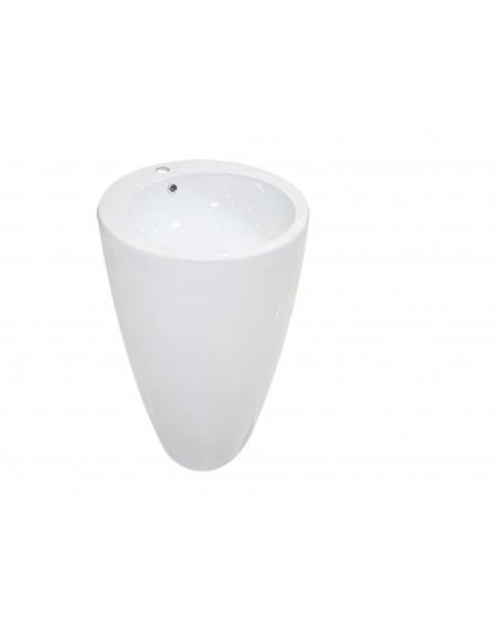Umyvadlo volně stojící lawita Eclipse S 480x485x805 mm materiál porcelán White