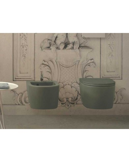 Sanitární set serie Clasic barevné provedení Felce serie BOWL+ výrobce Globo colore barevná wc toaleta bidet umyvadlo