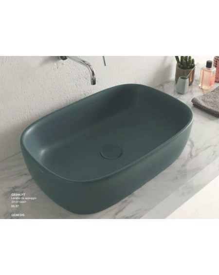 Umyvadlo Genesis colore Petrolio provedení Bagno di Colore výrobce Globo barevná wc toaleta bidet barevná sanitární keramika