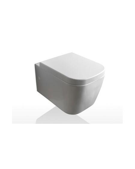 Závesná wc toaleta Stone 45cm porcelán White s poklopem Softclose výrobce Globo materiál porcelán CERASLIDE® maxiclean antibak