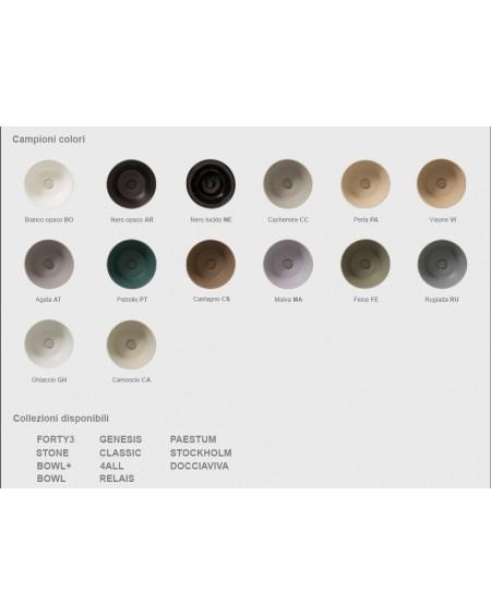 Dostupná barevná provedení serie výrobků Globo ceramica wc toalety bidety umyvadla vany vaničky materiál porcelán Ceraslide®