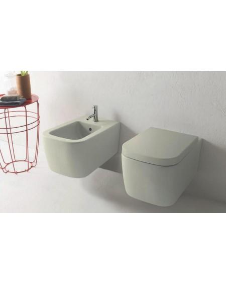 Závesná wc toaleta Stone 54cm porcelán sedátko s poklopem Softclose výrobce Globo CERASLIDE® maxiclean antibak.colore Cachemire