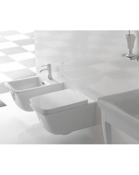 Závesná wc toaleta Relais 56cm porcelán White s poklopem Softclose výrobce Globo materiál porcelán CERASLIDE® maxiclean antibak
