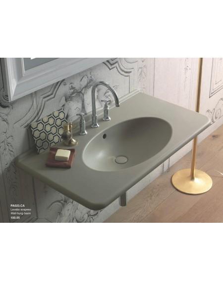 Umyvadlo barevné retro Paestum 023.CA výrobce Globo materiál porcelán CERASLIDE® matný hladký maxiclean antibakterialní