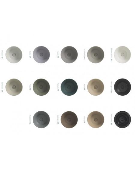 Barevné provedení porcelánu serie Relais umyvadla wc toaleta bidet vana Bl. Sprchová vanička