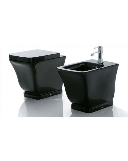 Stojící barevná wc toaleta Relais 56cm s poklopem Softclose výrobce Globo materiál porcelán CERASLIDE® maxiclean antibak. Colore