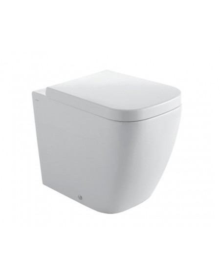 Stojící wc toaleta Stone 54cm porcelán White sedátko s poklopem Softclose výrobce Globo CERASLIDE® maxiclean antibak.