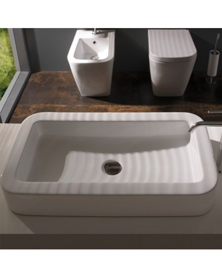Stojící wc toaleta bidet 54 cm výrobce Globo materiál porcelán CERASLIDE® maxiclean antibakteriální povrch