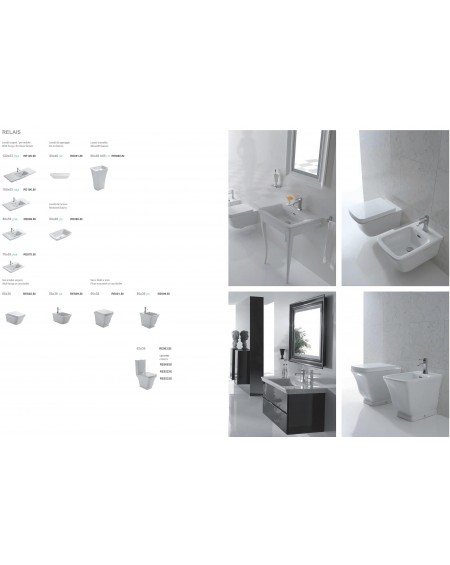 Serie Relais výrobce Globo materiál porcelán CERASLIDE® maxiclean antibak.