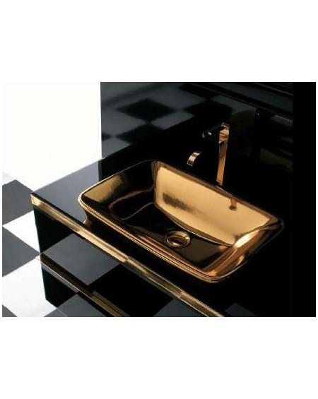 Umyvadlo Gold Relais 60x40cm výrobce Globo materiál porcelán CERASLIDE® povrch Gold